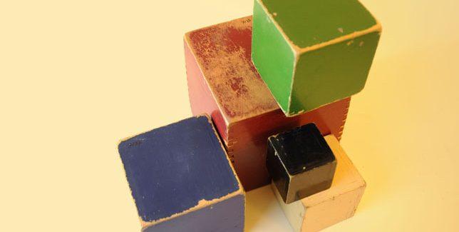 Bovenaanzicht ado speelblokken