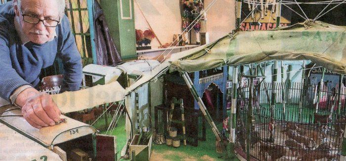 Circus Sarrasani in Kinderwereld, speelgoed in de piste