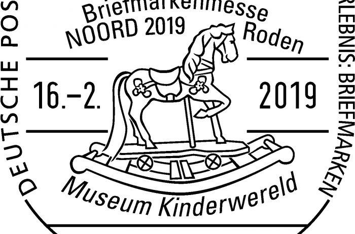 Museum Kinderwereld trots op unieke beursstempel tijdens de Postzegelmanifestatie Noord 2019!